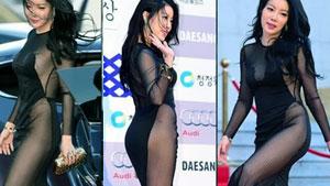 노수람,'청룡영화제 파격 노출 시스루 드레스'