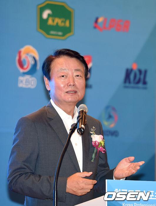 한국프로스포츠협회 출범식 축사 전하는 한선교 위원