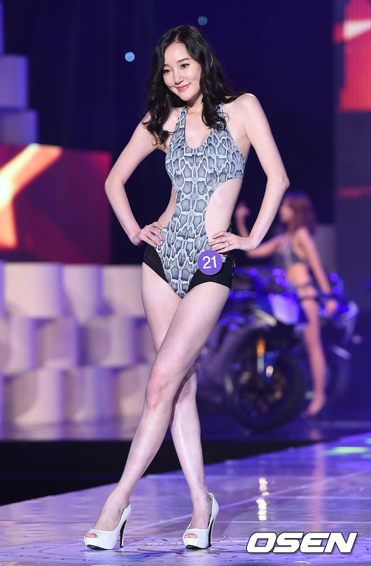 레이싱 모델 콘테스트,'가녀린 몸매'