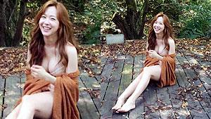 '손흥민과 열애' 유소영, 화보 촬영 컷 '19금 자태'
