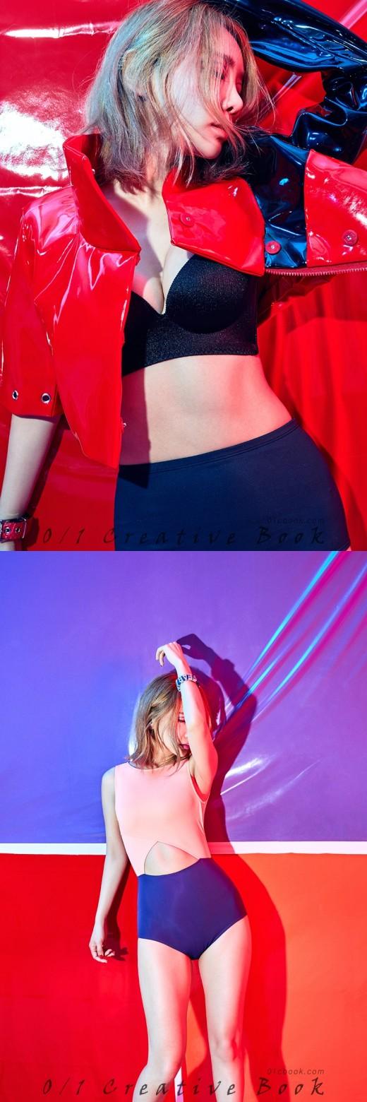 '잘록한 허리노출'...브아걸 제아, 수영복 몸매 과시