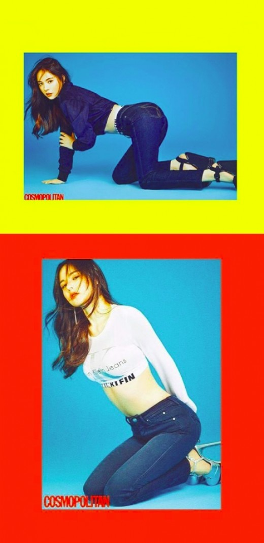 '나팔바지 ♥' 민효린, 청바지 맵시도 굿
