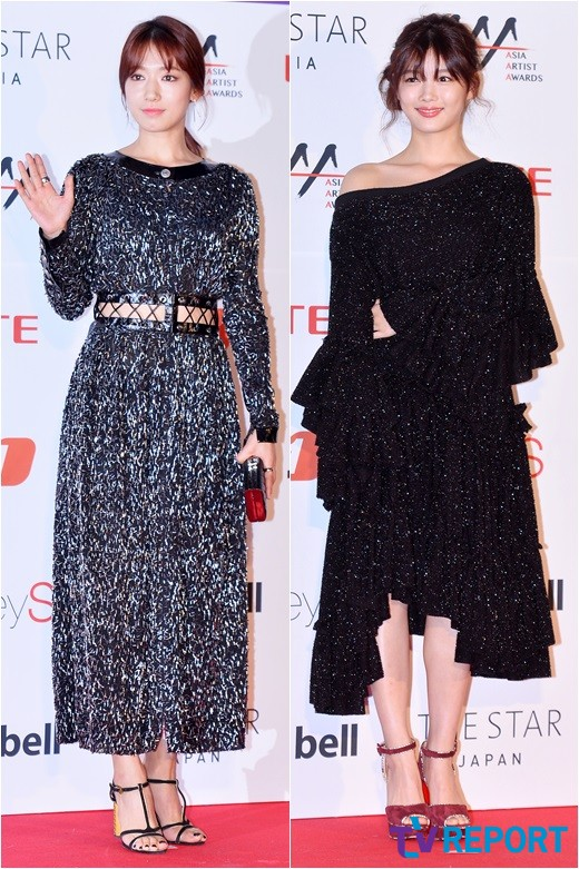 박신혜-김유정 '블링블링~ 반짝이 드레스로 미모 대결'