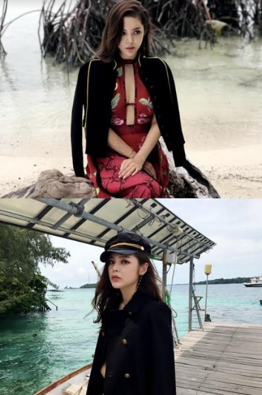 박시연, 가슴 라인 '파격' 해변 녹인 육감 몸매