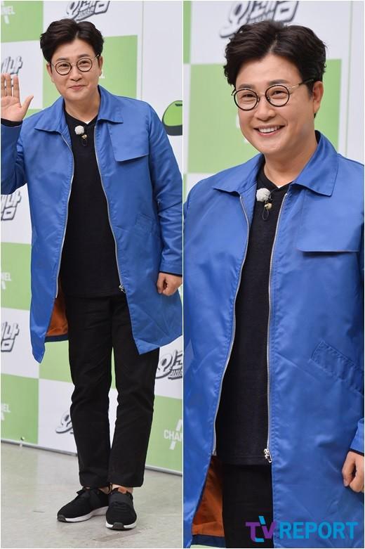 김성주 '화사한 블루 코트'