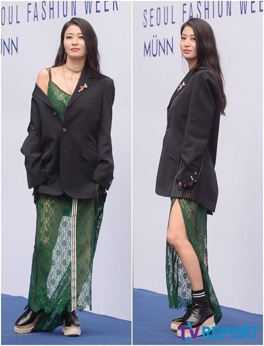 황보 '재킷 하나 걸친 영화제 패션'