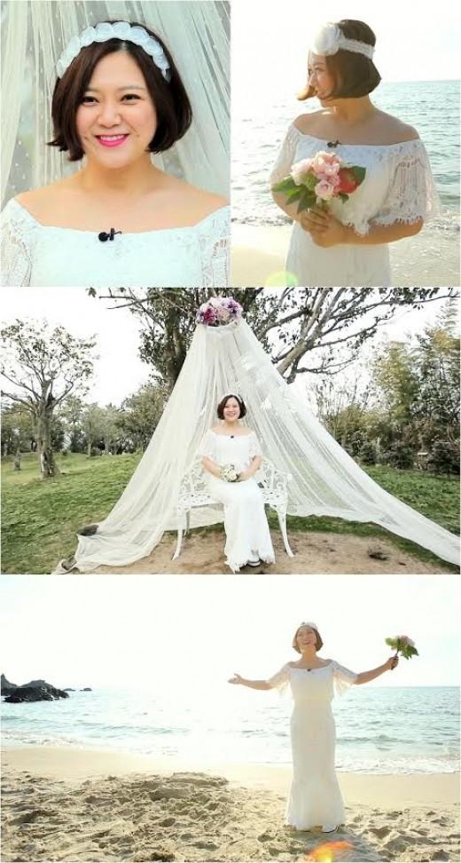 김숙, 웨딩드레스 입었다...윤정수도 반할 미모_이미지