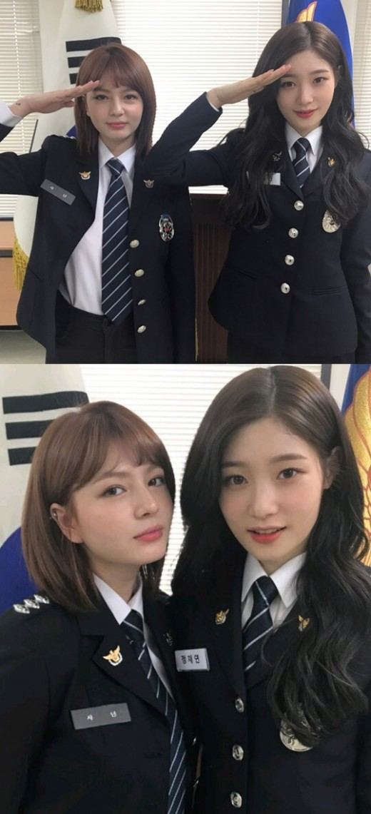 '제복美의 정석'...정채연 X 샤넌_이미지
