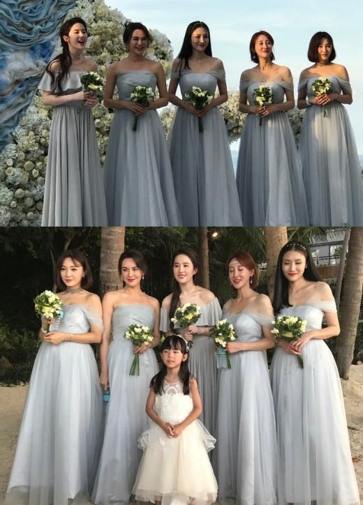 """""""이런, 민폐 들러리"""" 유역비, 친구 결혼식서 빛난 미모_이미지"""