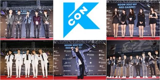 하이라이트X트와이스, 'KCON 2017' 뉴욕 접수