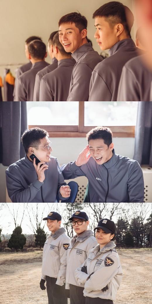 '청년경찰' 박서준x강하늘 카메라 꺼져도 美친케미 이정도_이미지