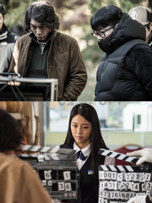 '살인자의기억법' 설경구·김남길·설현 반전 비하인드컷