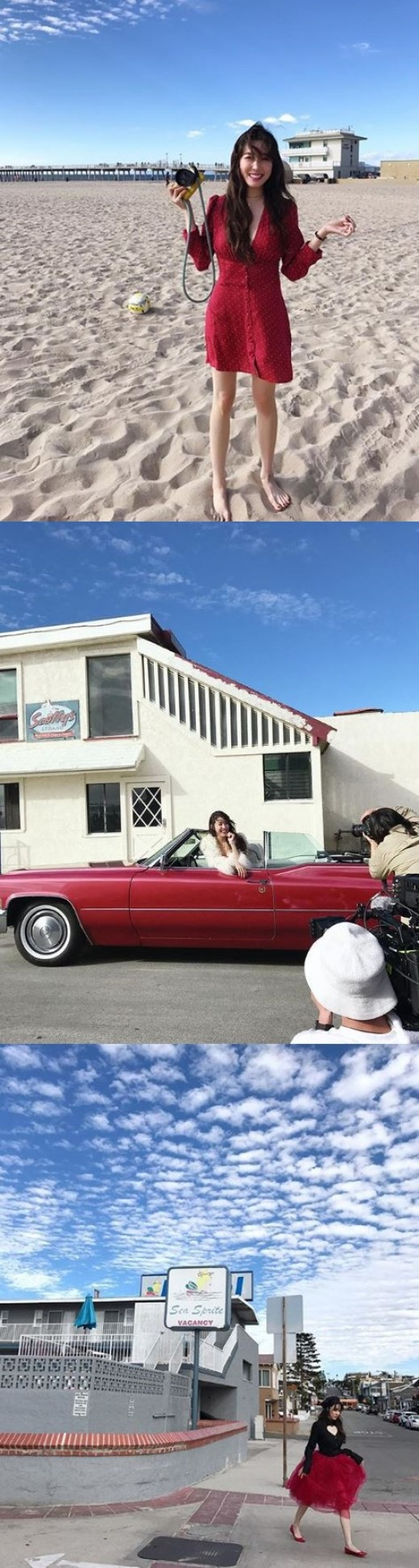 소녀시대 떠난 티파니, 美 캘리포니아서 화보 촬영 중
