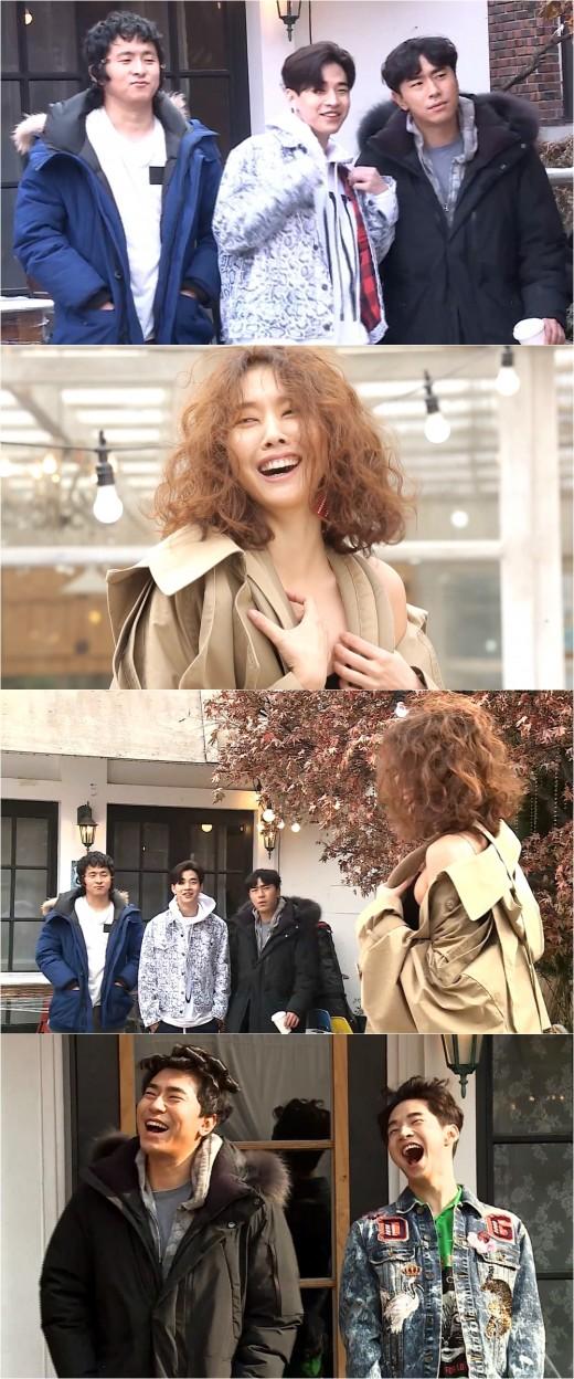 '나혼자' 이시언·기안84·헨리, 한혜진 화보 촬영장 방해꾼 활약