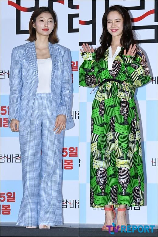 이엘-송지효 '봄바람 살랑~ 블루&그린으로 뽐낸 봄패션'