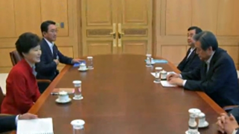 Pres. Park holds rare meeting with ruling party leaders