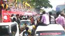 미얀마의 새해 맞이…물축제