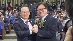 민주당 원내대표 선거 시작…홍영표·우원식 경쟁