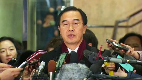 남북 회담 우리 측 대표단 출발 소감