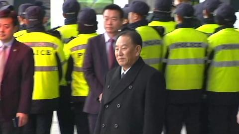 김영철 부위원장 등 北 대표단 귀환