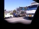 [사고현장]궁안교량에서 1톤 화물트럭 전소