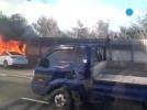[사고현장]서울외곽순환도로 차 폭발현장...
