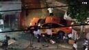 [사고현장]택시 인도 질주