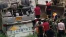 [사고현장]중국 버스 추락 사고현장사진