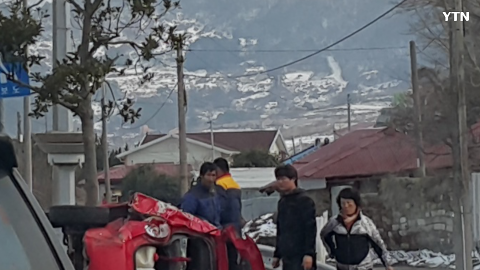 [사고현장] 진도군 자동차 전복사고