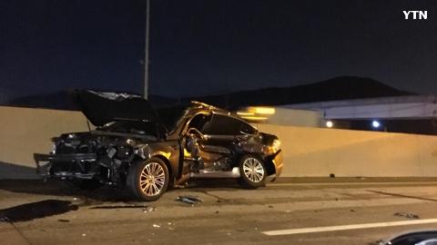 영동고속도로 인천방면 용인근처 충돌사고