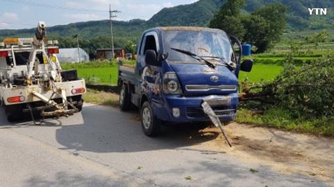 시골길 방심운전
