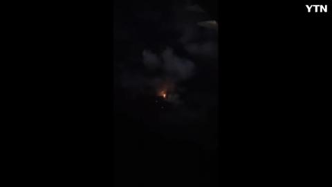 우연히 필리핀지나다가 화산폭발을 찍은거 같네요..