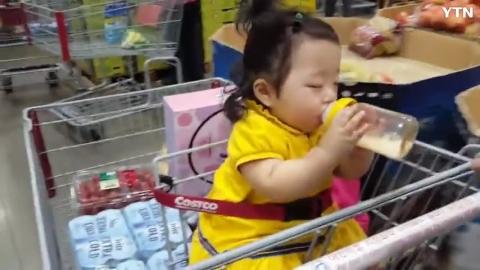 [일상] 졸려도 우유는 먹을 수 있어요^^