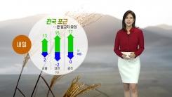 [날씨] 내일도 포근...점차 흐려지며 밤부터 전국에 비