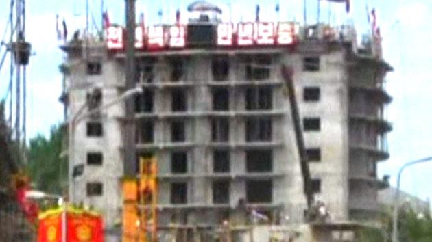 평양 23층 아파트 붕괴...상당수 사망