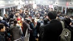 [제보영상] 9호선 사고 여파...순간 북새통