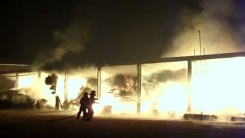 [제보영상] 충북 음성 삼성면 공장에 큰 불