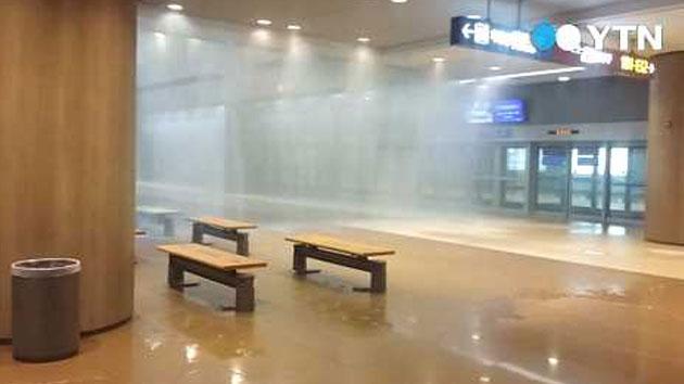 [제보영상] 물폭탄 맞은 인천공항 여객터미널