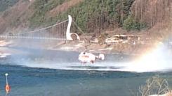 [제보영상] 정선 산불 '쉴 틈 없었던 소방헬기'