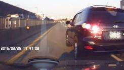 [영상] 가슴 철렁 보복운전...경찰 눈엔 안 보인다?