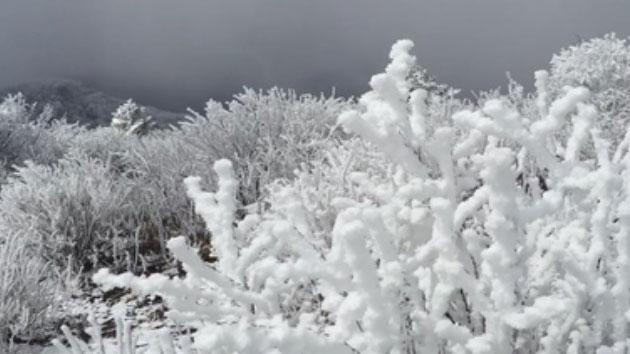 """[영상] """"여긴 아직 한겨울"""" 4월에 펼쳐진 설경"""