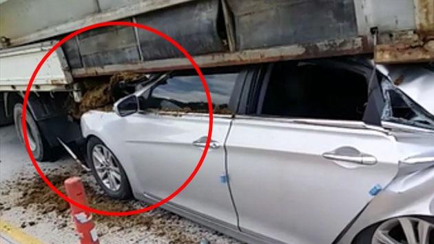 [영상] 고속도로 7중 추돌 '처참한 사고 현장'