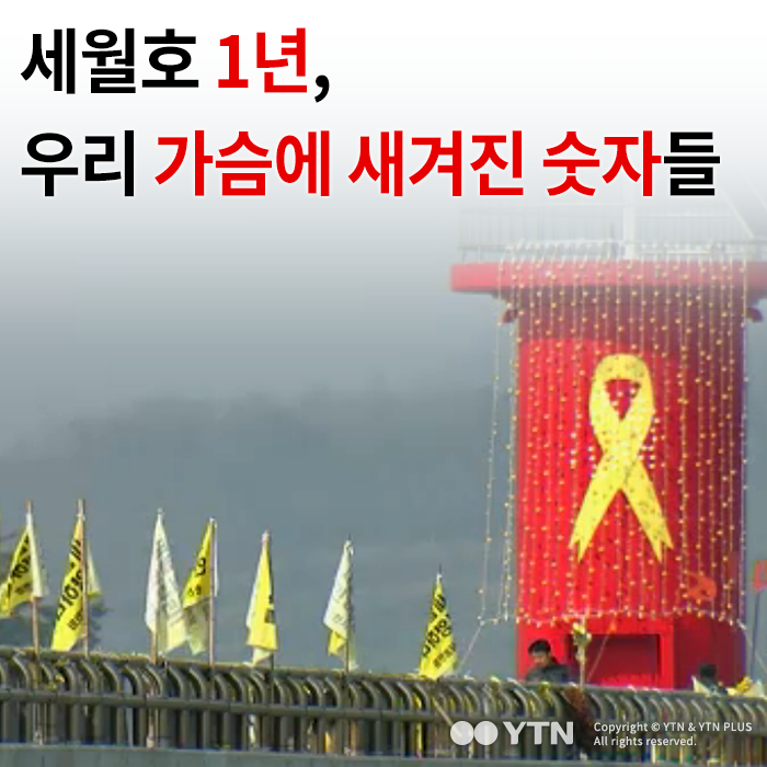 [한컷뉴스] 세월호 1년, 우리 가슴에 새겨진 숫자들