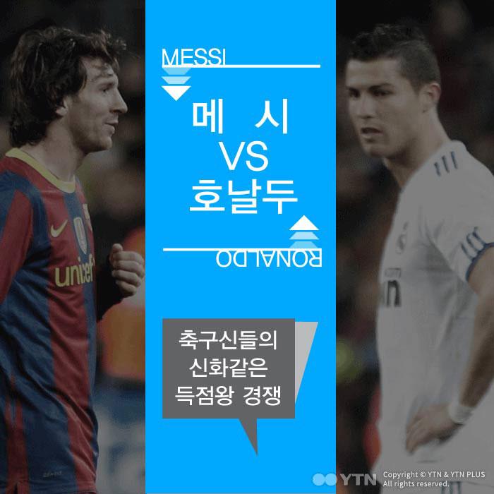 [한컷뉴스] '메시 vs 호날두' 축구 신계의 득점왕 경쟁