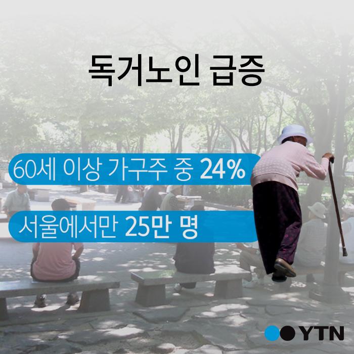 """[한컷뉴스] """"부담주기 싫다""""…서울 독거노인 '25만 명' 시대"""