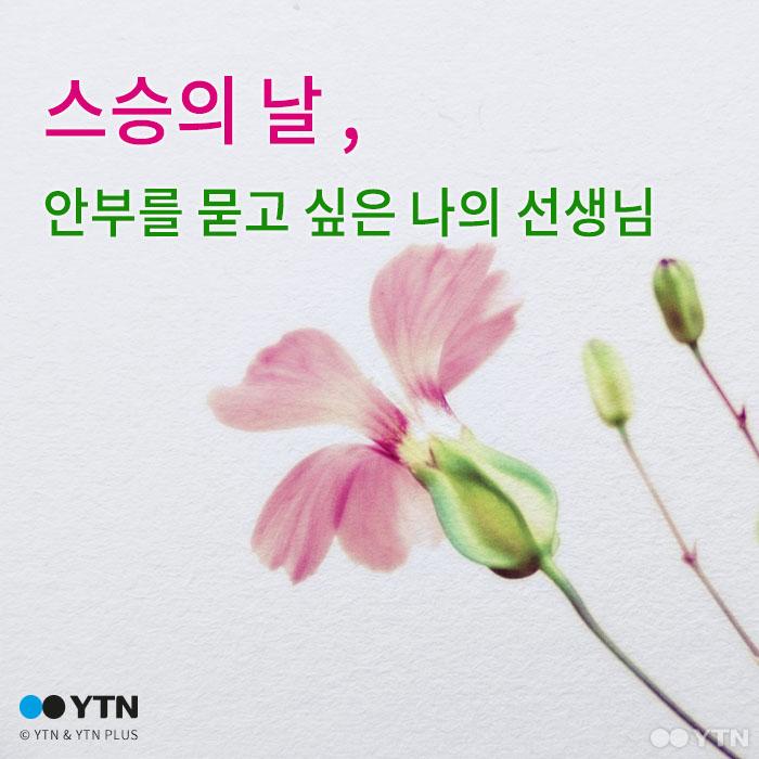 [한컷뉴스] 스승의 날, 안부를 묻고 싶은 나의 선생님