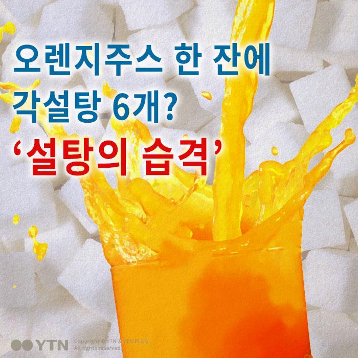 [한컷뉴스] 오렌지주스 한 잔에 각설탕 6개? '설탕의 습격'