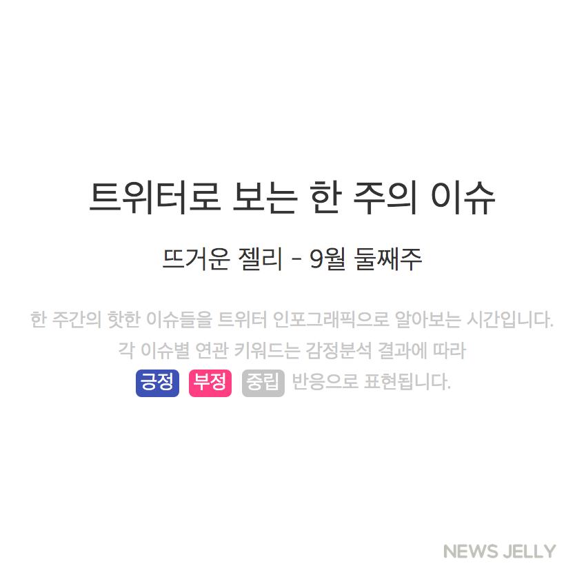 [한컷뉴스] 트위터로 보는 한 주간의 이슈 (9월 둘째 주)