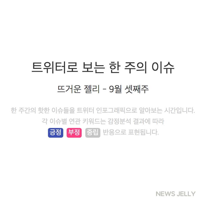 [한컷뉴스] 트위터로 보는 한 주간의 이슈 (9월 셋째 주)