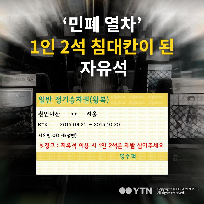 [한컷뉴스] '민폐 열차' 1인 2석 침대칸이 된 자유석